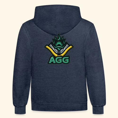 AGG Logo Text Transparent - Contrast Hoodie