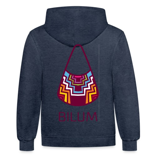 Awesome Bilum design - Unisex Contrast Hoodie