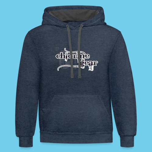 Chlorine Gear Textual stacked Periodic backdrop - Contrast Hoodie