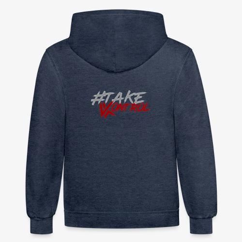 #TakeKontrol Logo - Unisex Contrast Hoodie