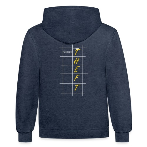 Taxation is Theft Crossword - Unisex Contrast Hoodie