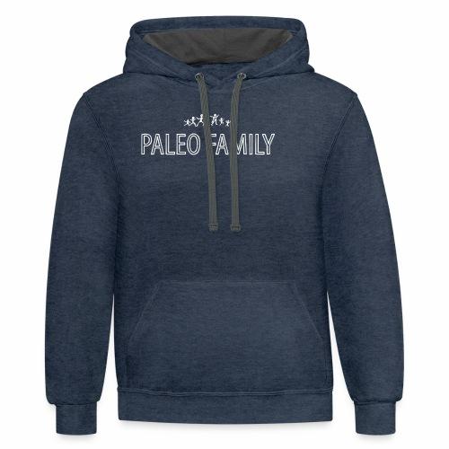 Paleo Family - 4 Kids - Contrast Hoodie