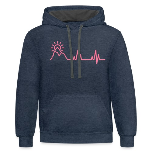 The Heartbeat of a Wanderer - Unisex Contrast Hoodie