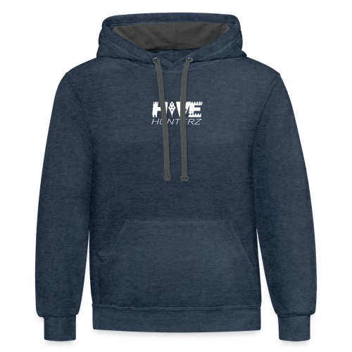 White Hive Hunterz Logo - Contrast Hoodie