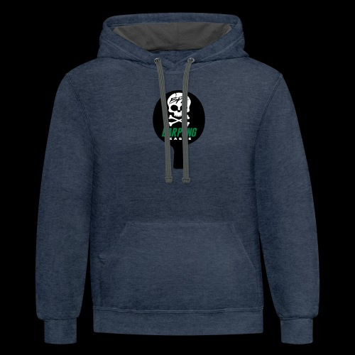 Bar Pong Paddle Logo - Contrast Hoodie