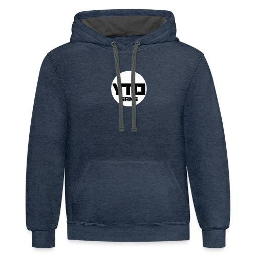 ytd logo - Contrast Hoodie