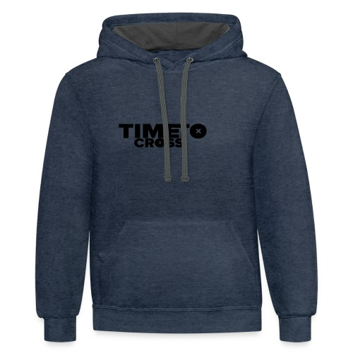Time to cross - Contrast Hoodie