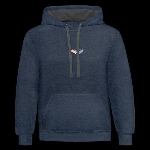 Black T-Shirt - Seventeen - Contrast Hoodie