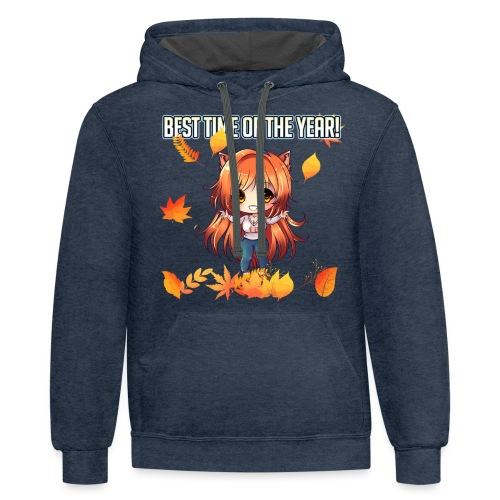 BEST TIME OF YEAR - CARMEL JOURNEY OF BRAVERY MANG - Contrast Hoodie