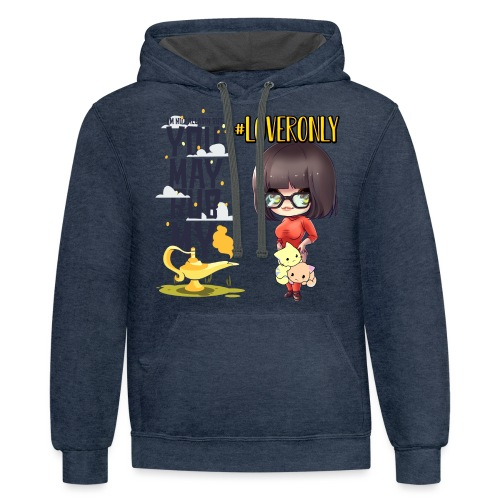 LOVER ONLY - Contrast Hoodie