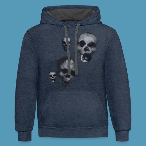 Bone skulls - Unisex Contrast Hoodie