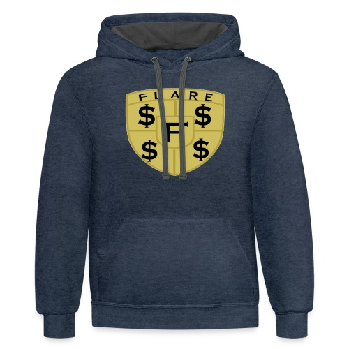 FLARE Shield Logo - Contrast Hoodie