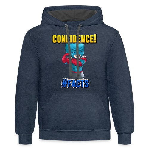 CONFIDENCE - Contrast Hoodie