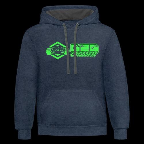 G2G Logo Side by Side Green - Unisex Contrast Hoodie