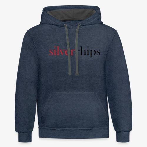 SilverChips Logo - Unisex Contrast Hoodie