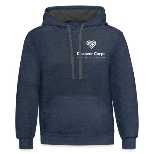 DiscoverCorp Logo Vertical Rev High - Contrast Hoodie