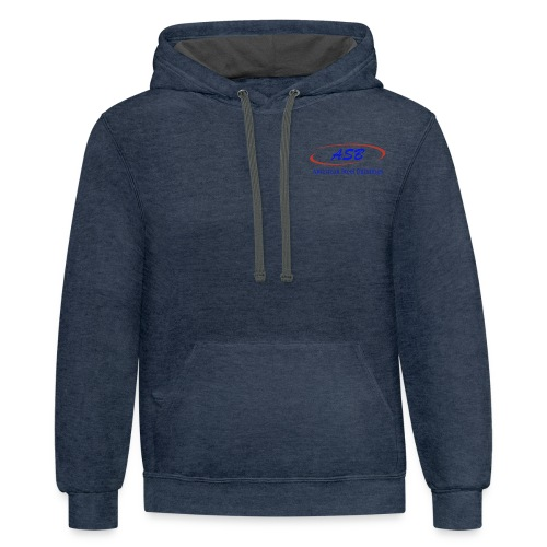 Color Logo Initials With Name - Unisex Contrast Hoodie