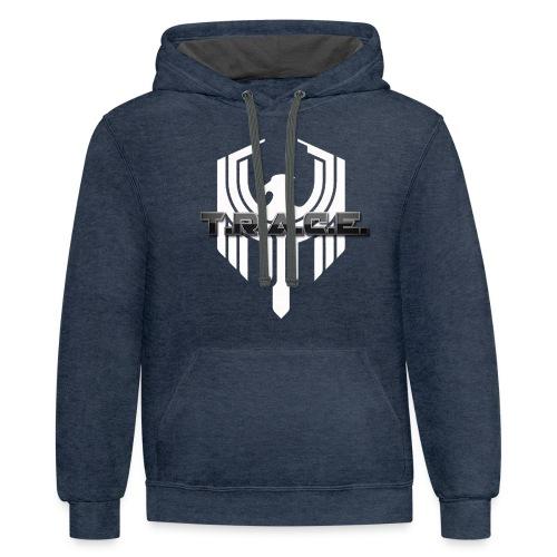 White T.R.A.C.E. Emblem - Unisex Contrast Hoodie