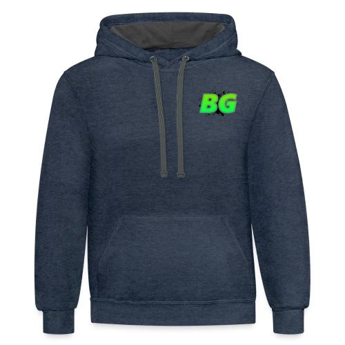 BBGrieve Small Logo (BG) - Unisex Contrast Hoodie