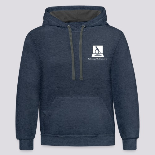 Pathology Outlines Square Logo - Unisex Contrast Hoodie