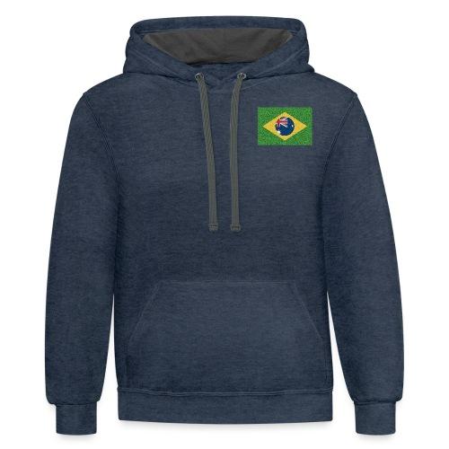 Brazil flag with Australia Twist - Contrast Hoodie