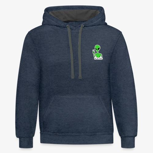 GREEN ALIEN - Contrast Hoodie
