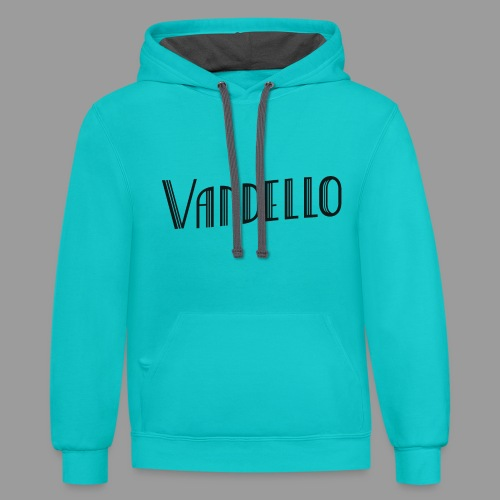 Vandello Logo-Black - Contrast Hoodie