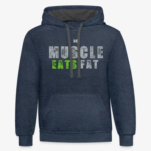Muscle Eats Fat (Seahawks Gray) - Unisex Contrast Hoodie