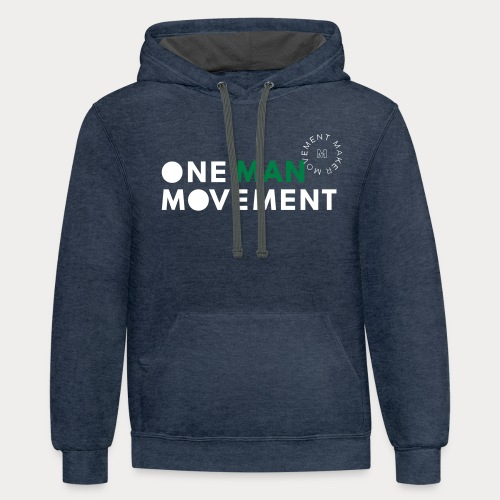 One Man Movement - Unisex Contrast Hoodie