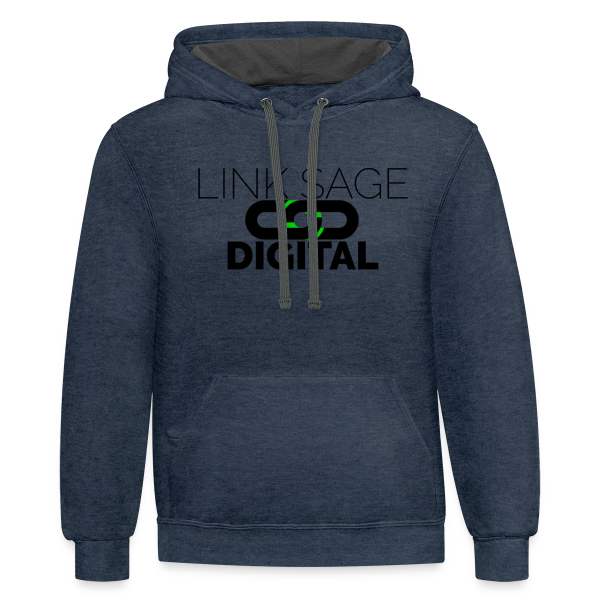 Link Sage Digital Logo with Text - Contrast Hoodie