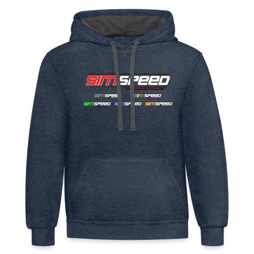Sim Speed Logos 2000px - Contrast Hoodie