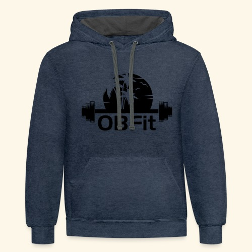 OB Fit Black - Unisex Contrast Hoodie