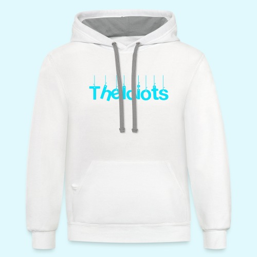 The Idiots Blue - Unisex Contrast Hoodie