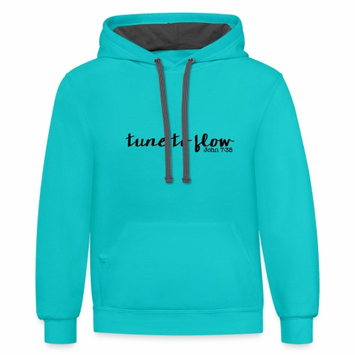 Tune to Flow - Design 1 - Contrast Hoodie