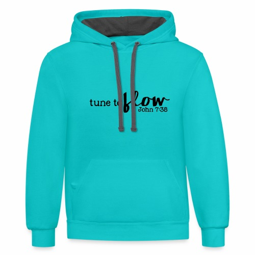 Tune to Flow - Design 3 - Contrast Hoodie
