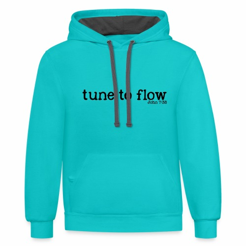 Tune to Flow - Design 2 - Contrast Hoodie