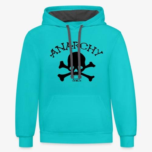 Anar Skull black - Contrast Hoodie