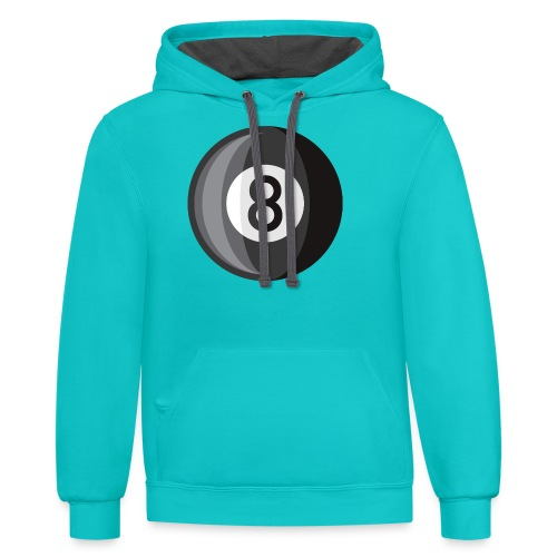 8 Ball - Unisex Contrast Hoodie