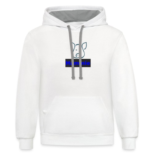 Hammie Logo with Brand Name - Contrast Hoodie