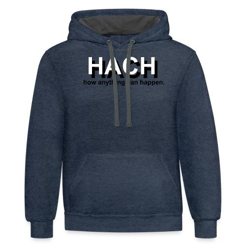 HACH Design Logo - Contrast Hoodie