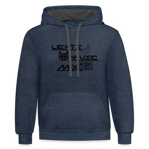 LMM (Black) - Unisex Contrast Hoodie
