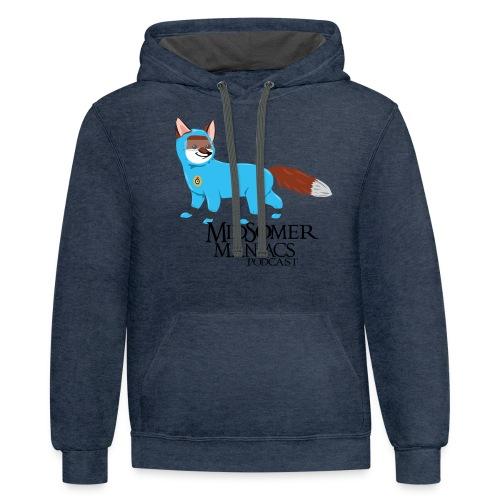 Midsomer Maniacs - SOCO Fox dark text - Unisex Contrast Hoodie