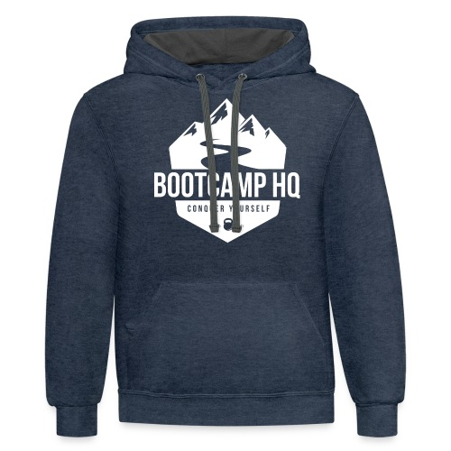 Bootcamp HQ png - Unisex Contrast Hoodie