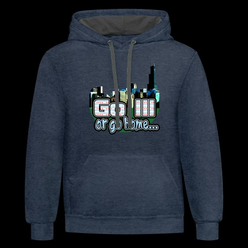 Go Ill or Go Home - Unisex Contrast Hoodie