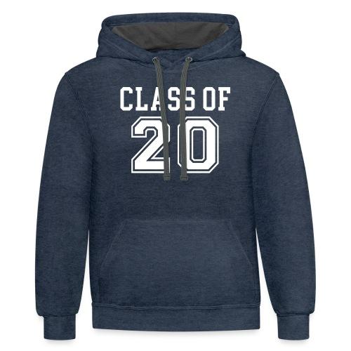 Class of 20 - Unisex Contrast Hoodie