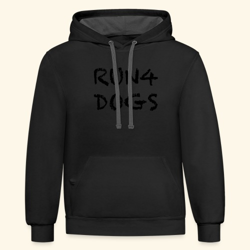RUN4DOGS NAME - Contrast Hoodie