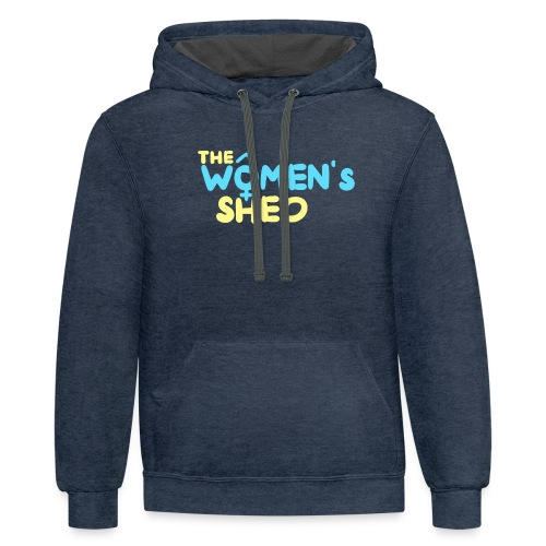 'The Women's Shed' - Unisex Contrast Hoodie