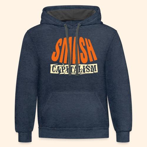Smash Capitalism - Unisex Contrast Hoodie