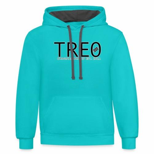 TRE0 Brand Glow White - Contrast Hoodie