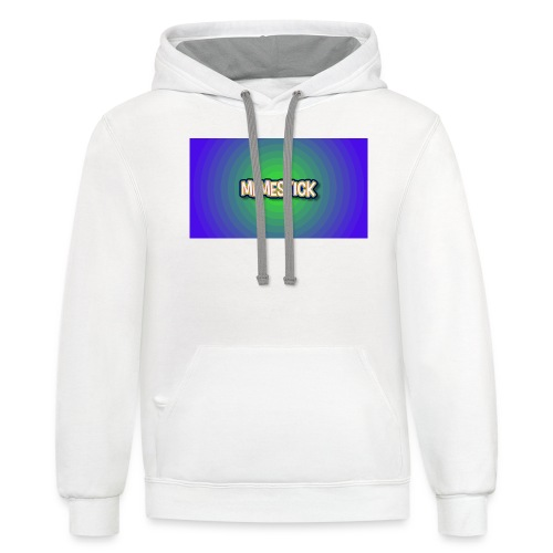 memestick symbol - Contrast Hoodie
